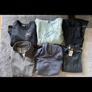 Under Armour warm top bundle - 6 pieces